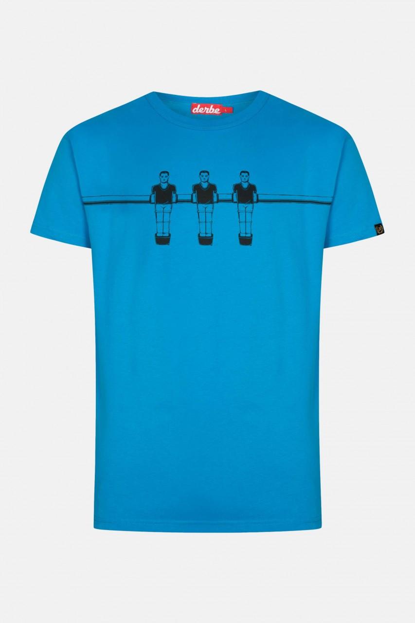 Derbe Kicker Herren T-ShirtSwedish Blue Blau Ohne Kurbeln