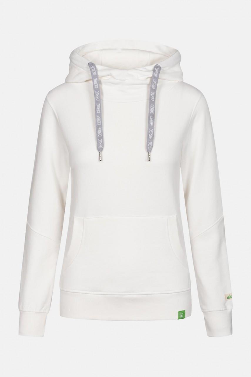 Derbe Lynx Gots Organic Damen Kapuzen Pullover Offwhite Weiß