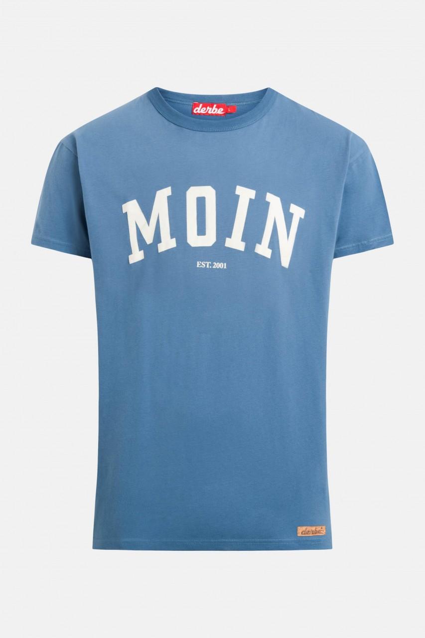 Derbe Moin Herren T-Shirt Bijou Blue Blau