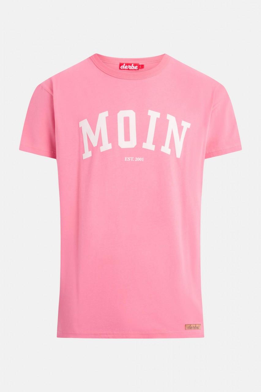 Derbe Moin Herren T-Shirt Bubblegum Pink