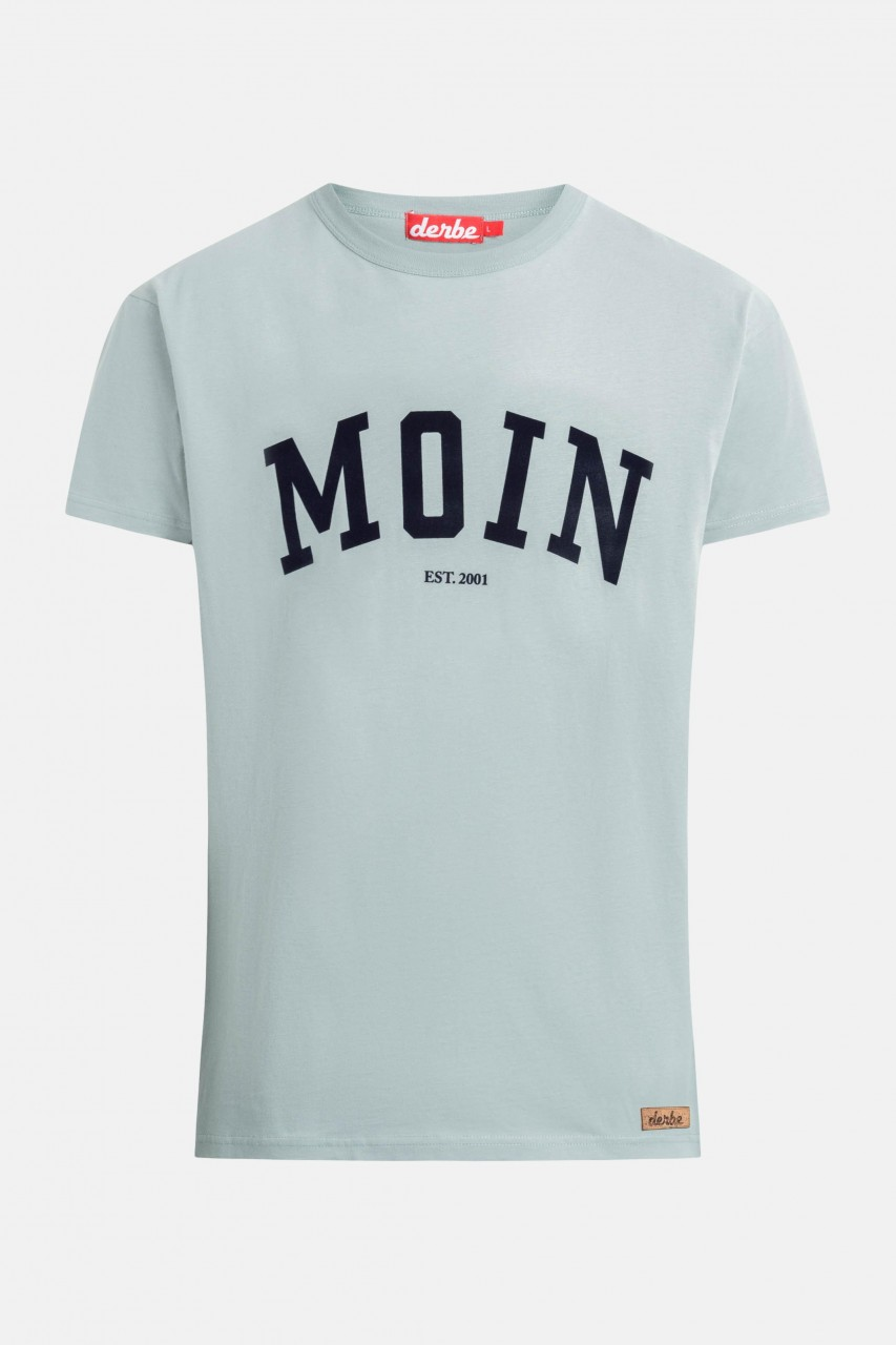 Derbe Moin Herren T-Shirt Quarry Grau