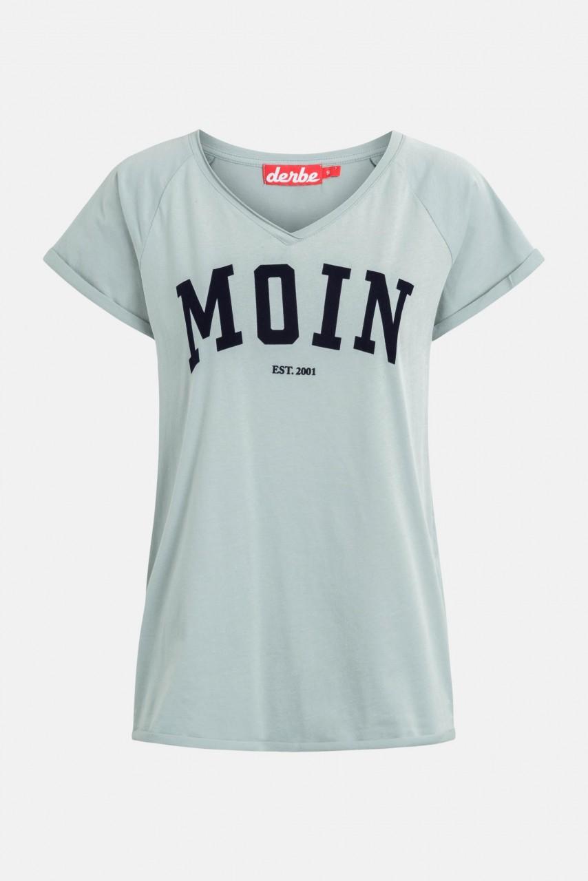 Derbe Moin Damen T-Shirt Quarry Grau