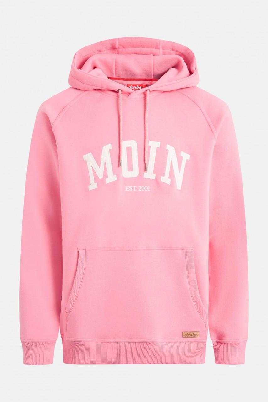 Derbe Moin Hoody Boys Herren Kapuzenpullover Bubblegum Pink