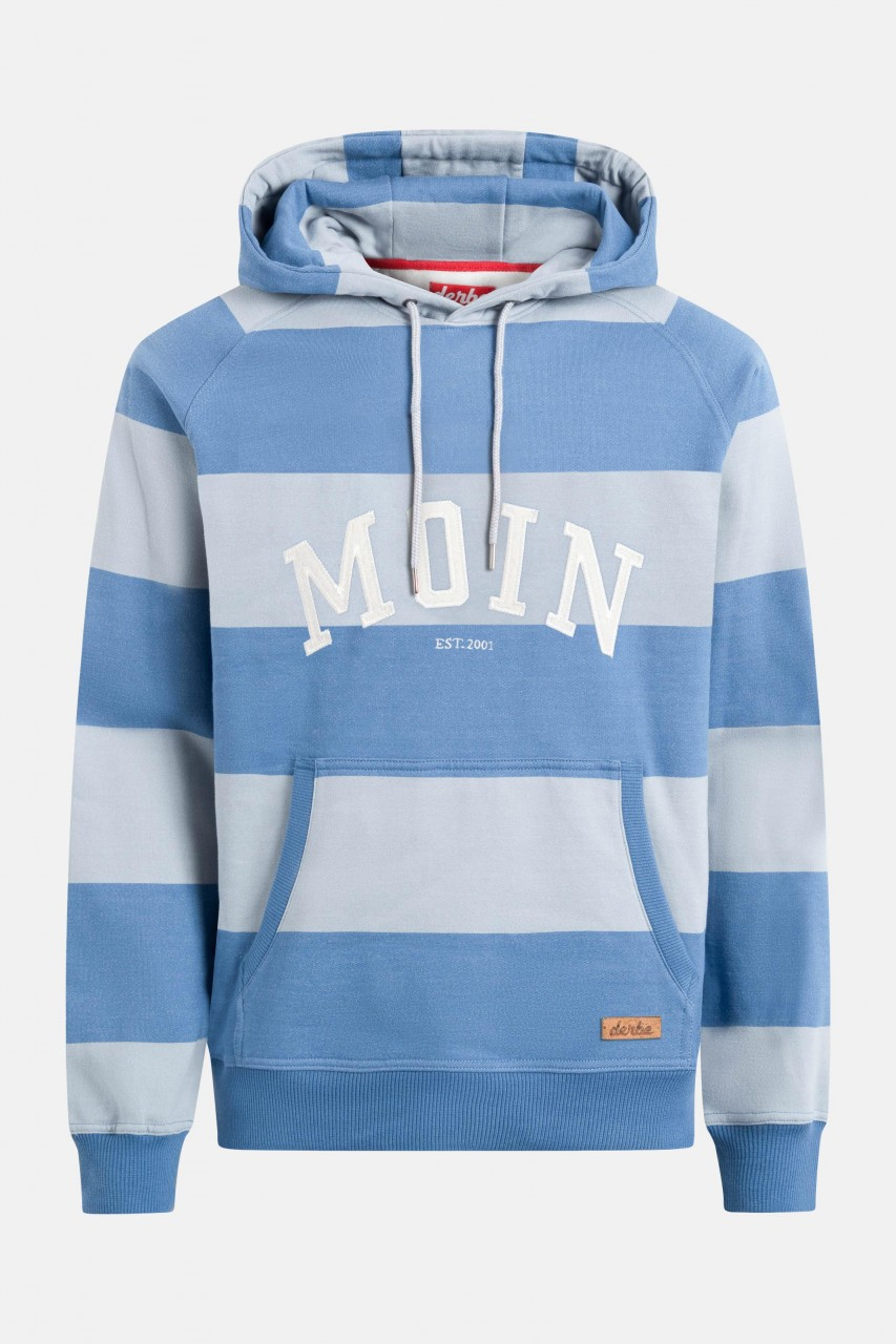 Derbe Moin Hoody Boys Herren Kapuzenpullover Quarry Bijou Blue Grau Blau