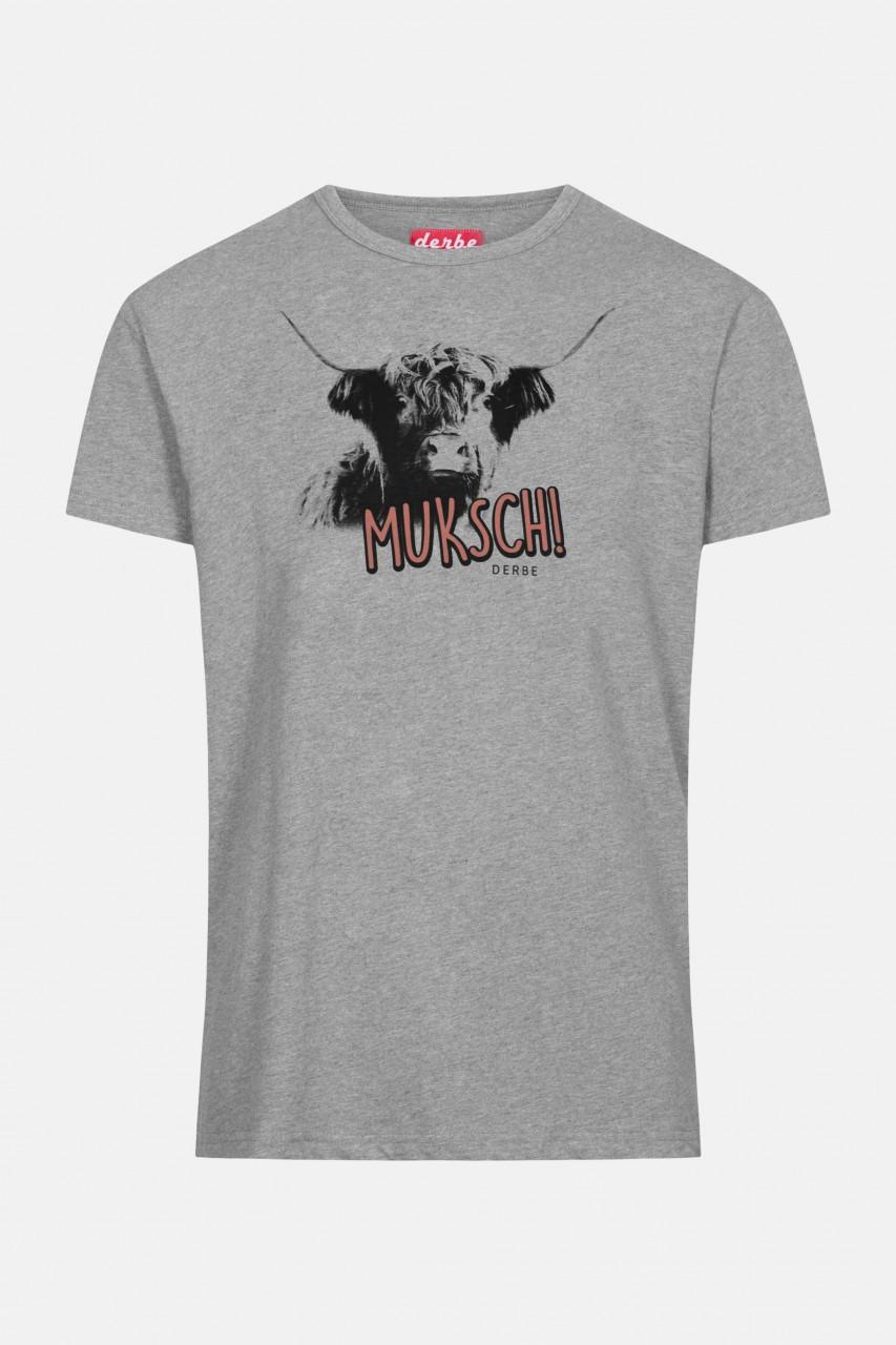 Derbe Muksch Herren T-Shirt Grey Melange Grau