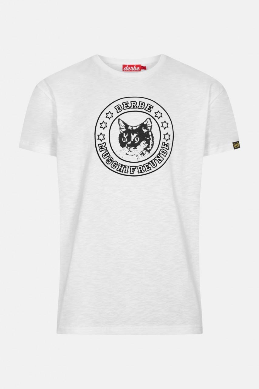 Derbe Muschifreunde Herren T-Shirt Weiß