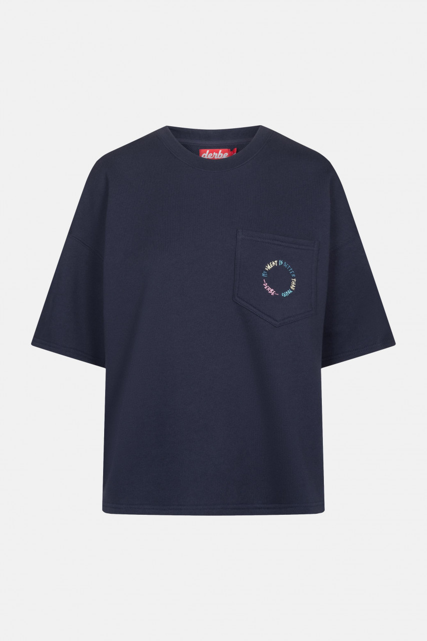 Derbe My Sweat is better Damen Pullover T-Shirt Navy Dunkelblau
