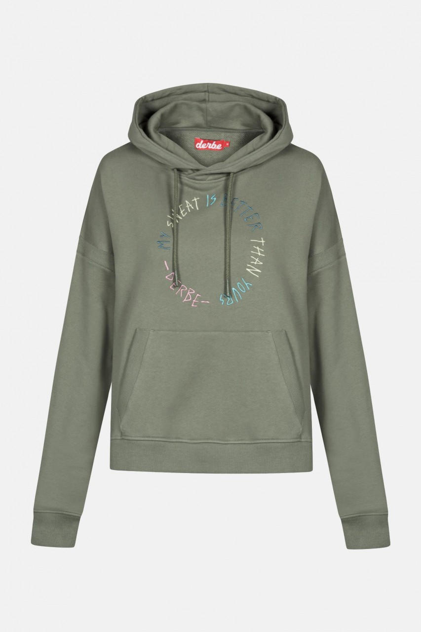 Derbe My Sweat is better than yours Damen Hoody Kapuzenpullover Oliv