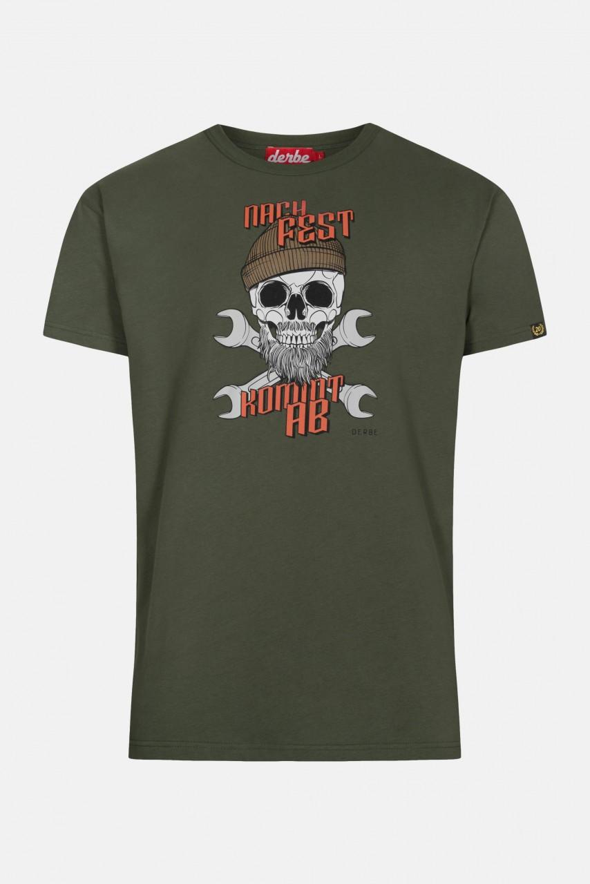 Derbe Nach fest kommt ab Herren T-Shirt Oliv