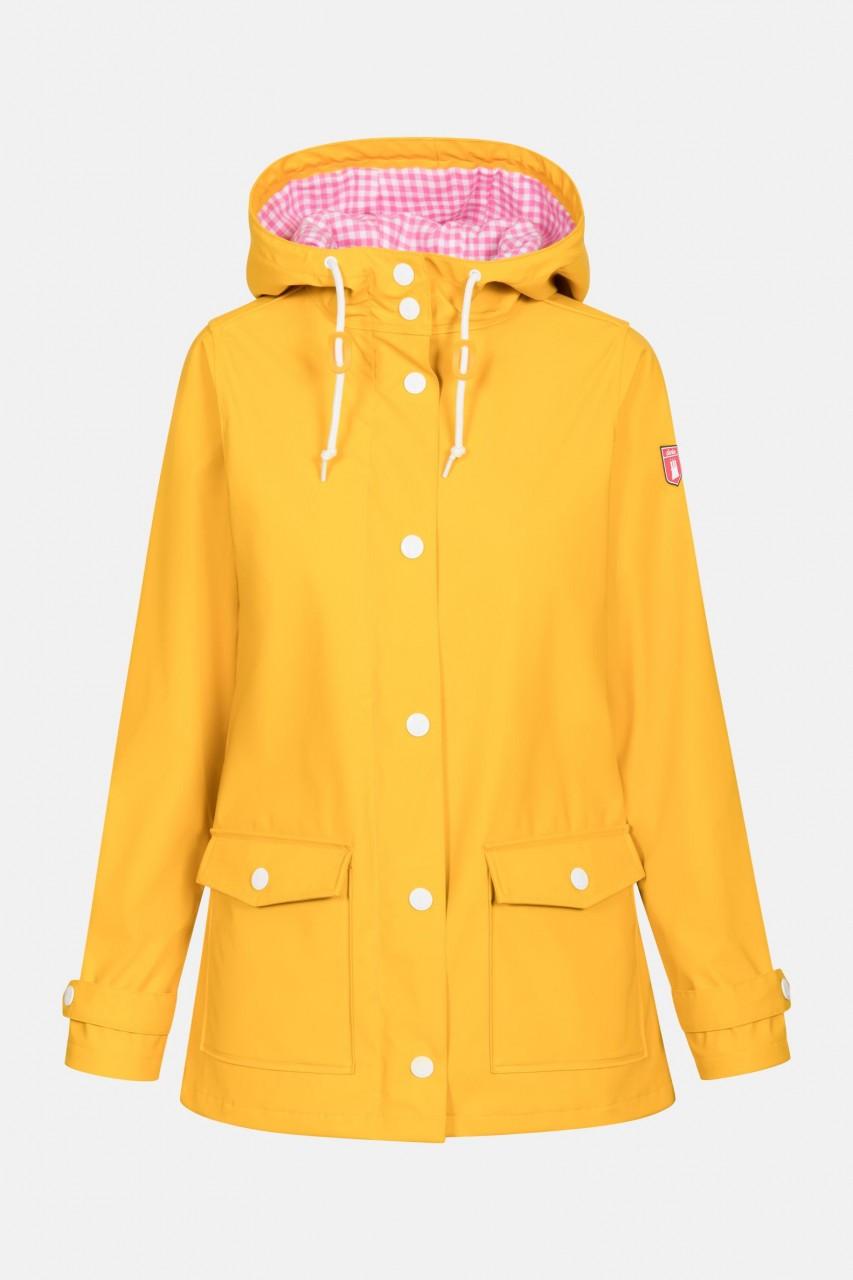Derbe Peninsula Vichy Damen Regenjacke Yellow Gelb Kariert