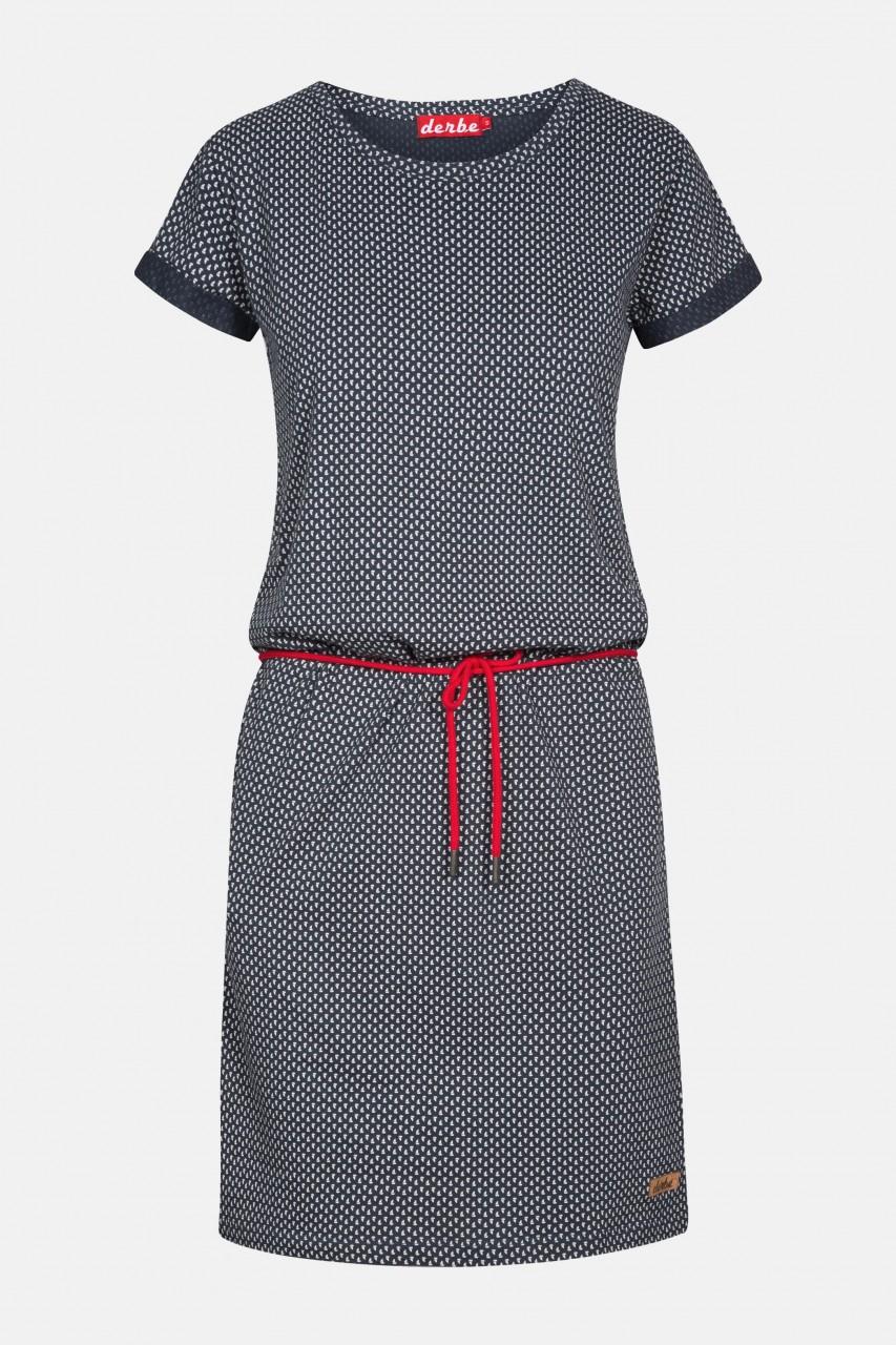 Derbe Petite Ship Dress Damen Kleid Segelschiffe Blau