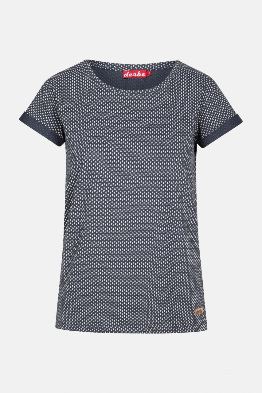 Derbe Petite Ship Tee Damen T-Shirt Segelschiffe Blau