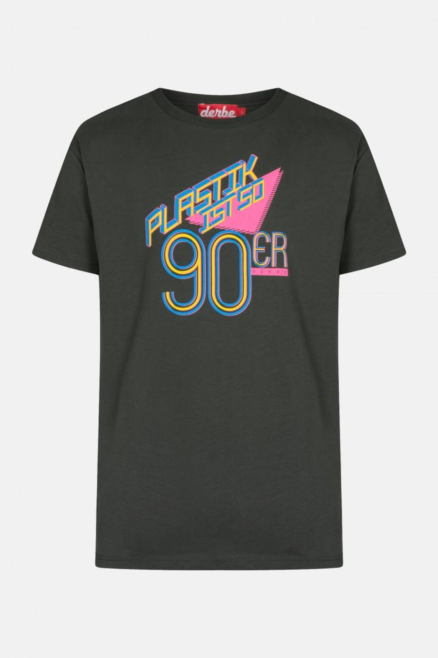 Derbe Plastik ist so 90er Herren Shirt Phantom Schwarz