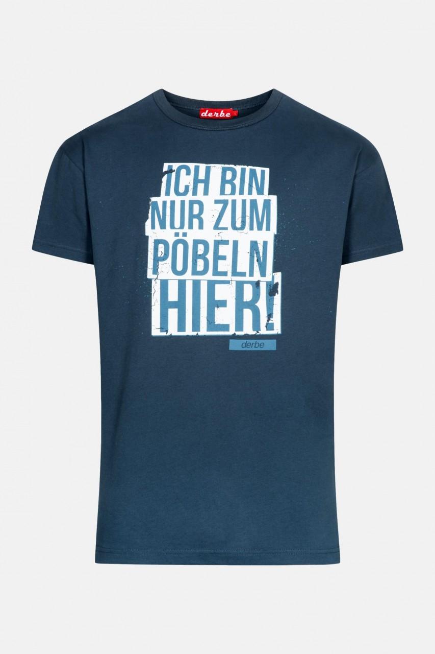 Derbe Pöbeln Herren T-Shirt Dunkelblau