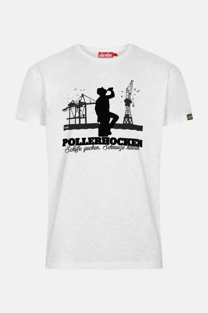Derbe Pollerhocken Herren T-Shirt Weiß