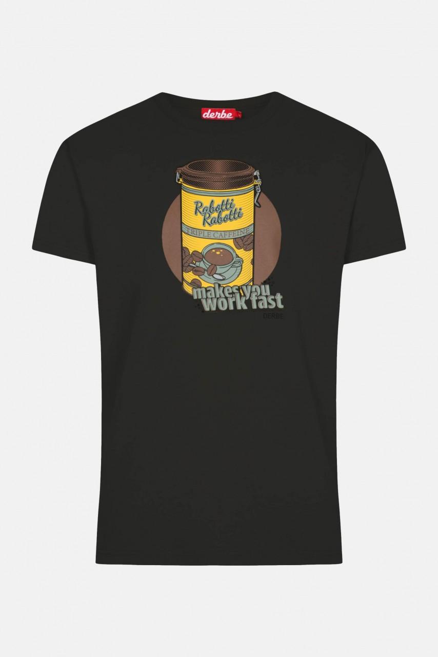 Derbe Rabotti Herren T-Shirt Phantom Schwarz Kaffeedose