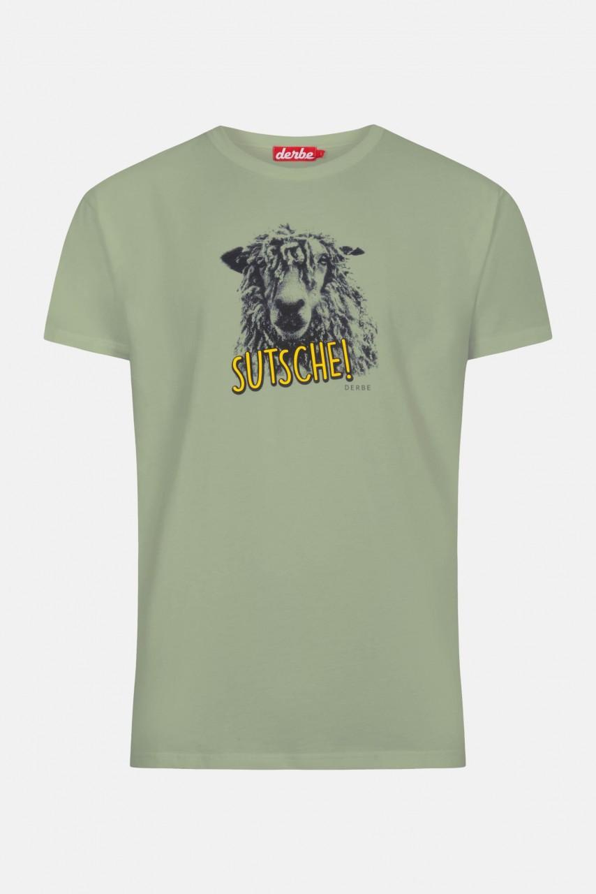 Derbe Schaap Sutsche Herren T-Shirt Lily Pad Grün