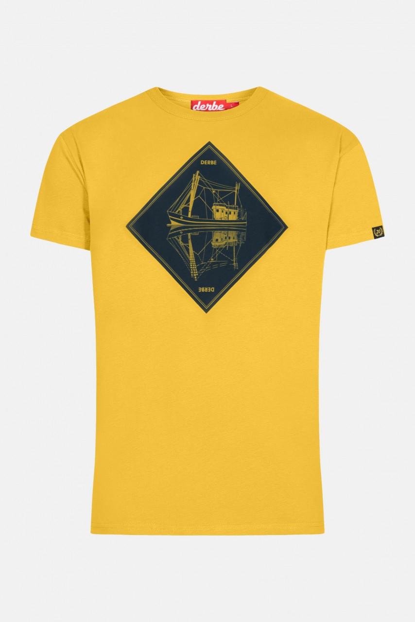 Derbe Schipp Herren T-Shirt Gelb