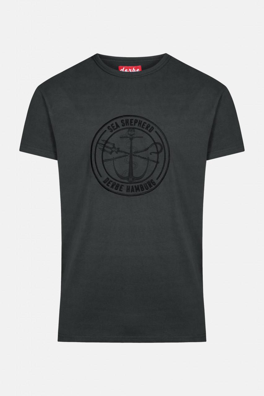 Derbe Barsch Mono Sea Shepherd Gots Organic Herren Shirt Schwarz