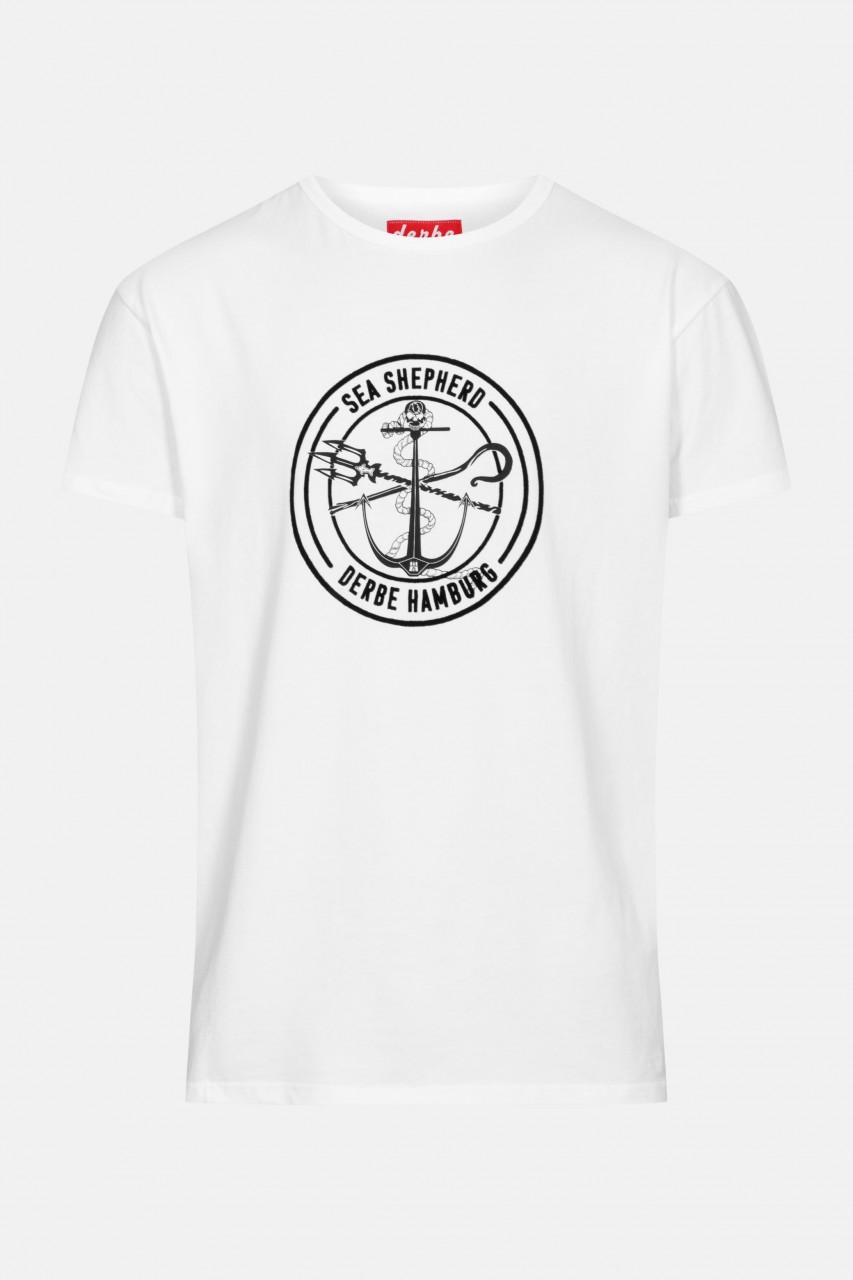 Derbe Barsch Sea Shepherd Gots Organic Herren Shirt Weiß