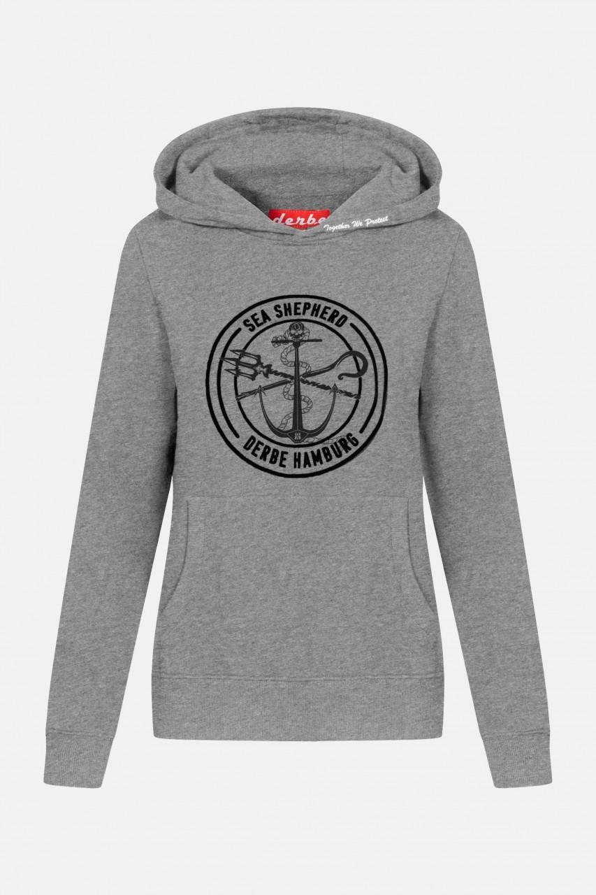 Derbe Zope Grau Sea Shepherd Gots Organic Damen Pullover