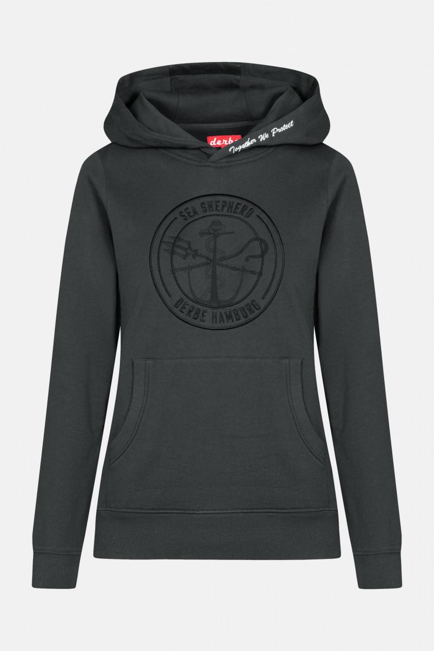 Derbe Zope Schwarz Sea Shepherd Gots Organic Damen Pullover