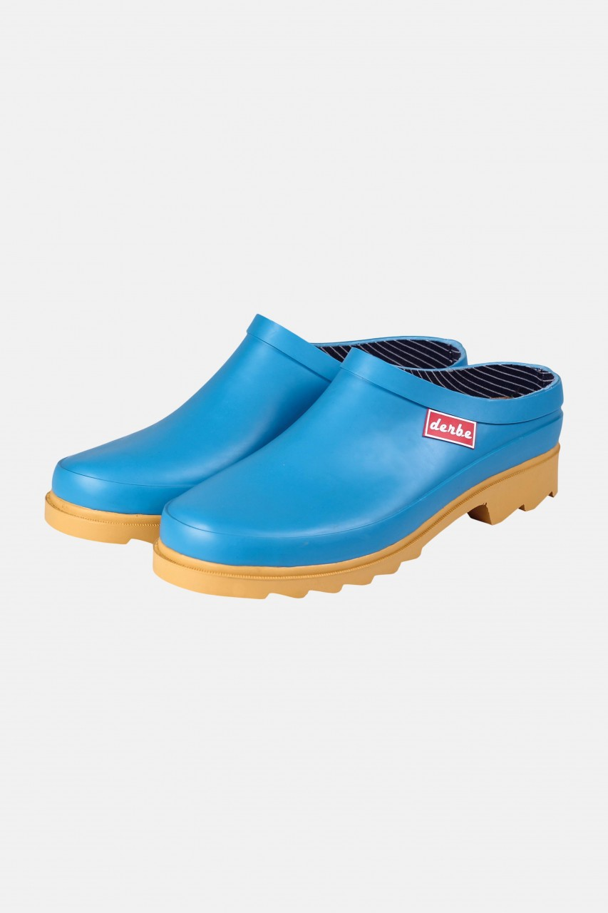 Derbe Slurenbotten Bleu Gum Damen Regen Clogs Blau
