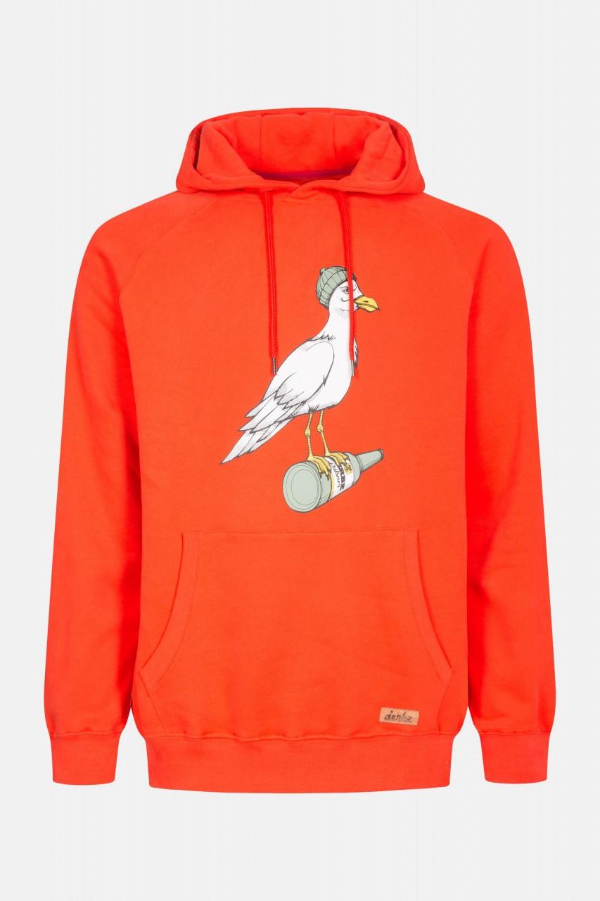 Derbe Storm Seagull Cherry Tomato Herren Kapuzenpullover Rot Orange Möwe