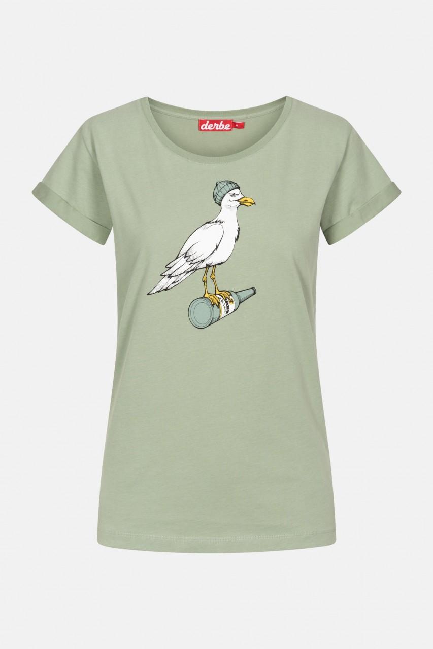 Derbe Sturmmöwe Damen T-Shirt Lily Pad Grün