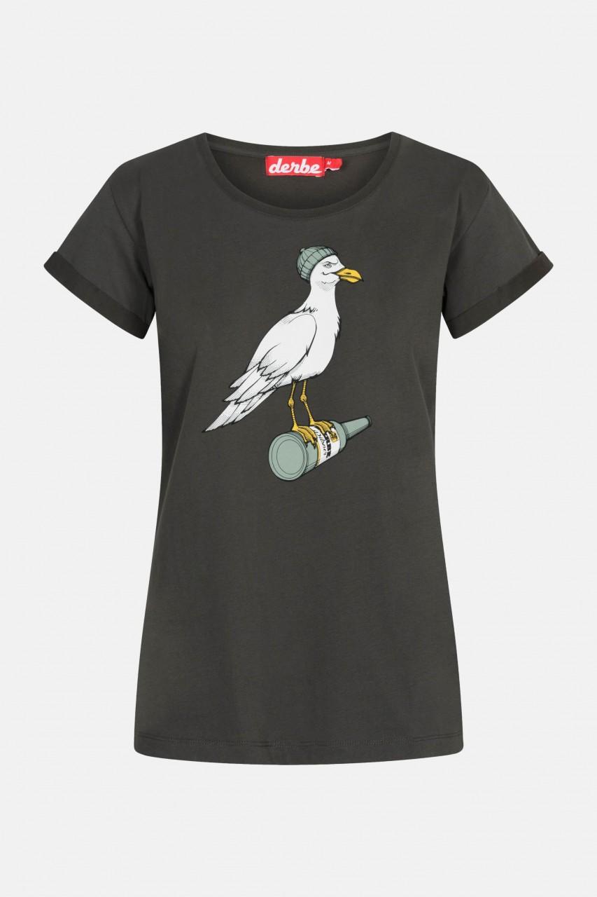 Derbe Sturmmöwe Damen T-Shirt Phantom Schwarz