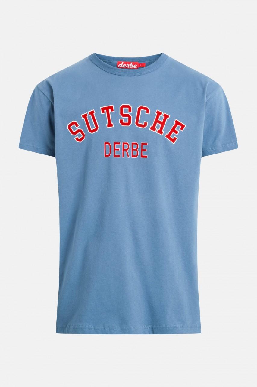 Derbe Sutsche Herren T-Shirt Bijou Blue Blau
