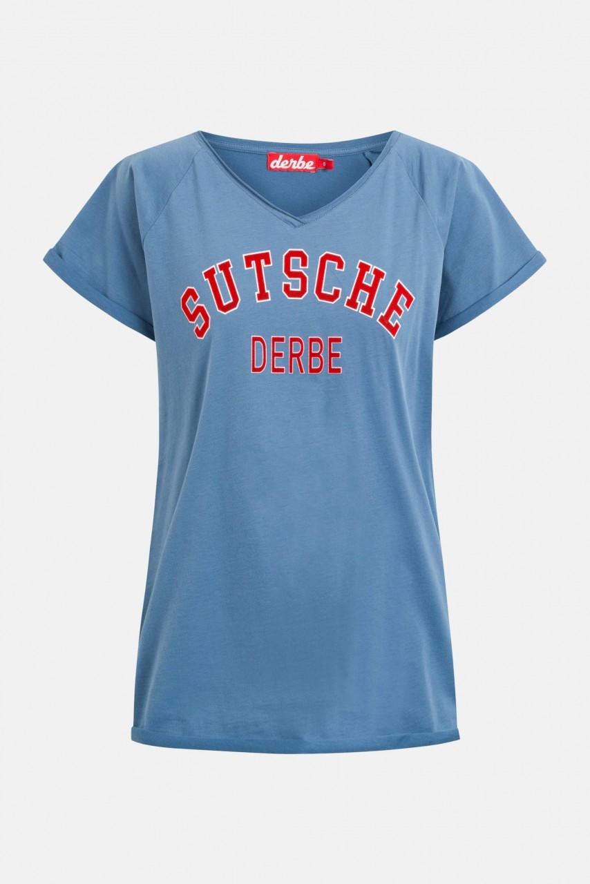 Derbe Sutsche Damen T-Shirt Bijou Blue Blau