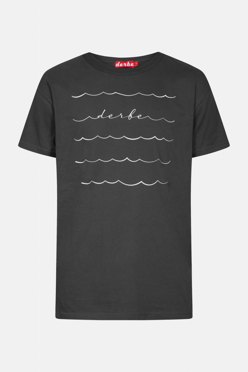 Derbe Sweeping Herren T-Shirt Phantom Dunkelgrau Wellen