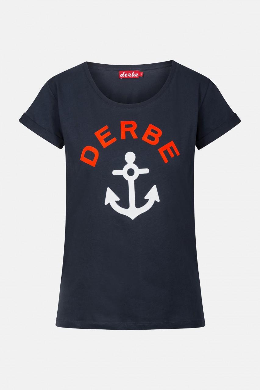 Derbe T-Shirt Tallymann Damen Blau Anker