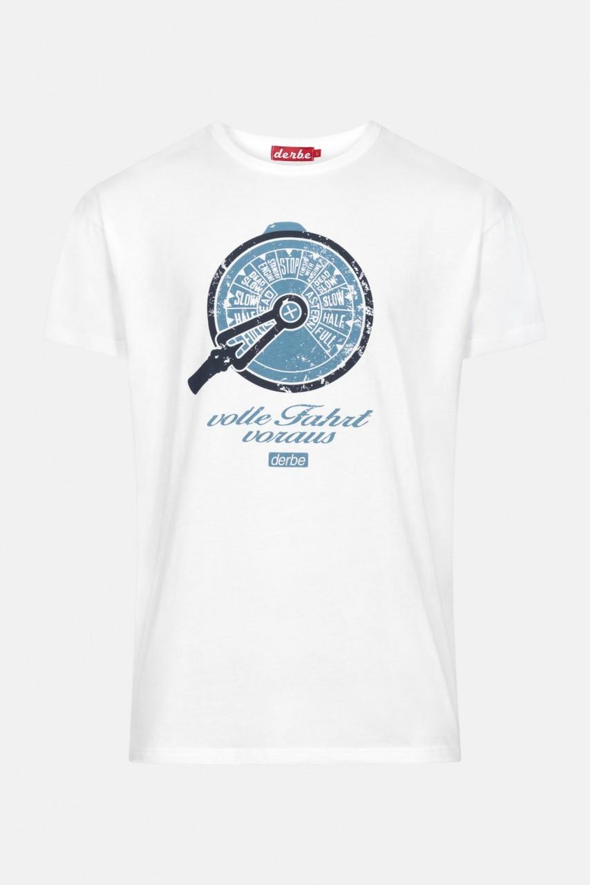 Derbe Telegraf Weiß Herren T-Shirt