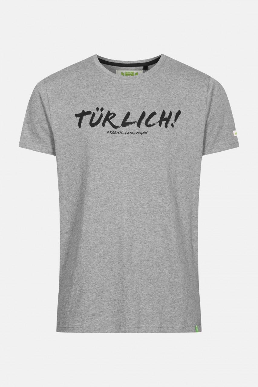 Derbe Theo Türlich Herren Shirt Gots Organic Grau