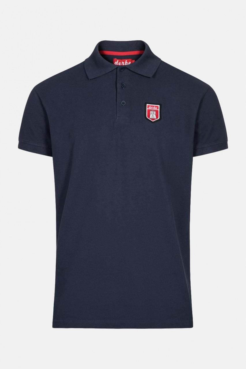 Derbe Herren Poloshirt T-Shirt Tommy Navy Dunkelblau