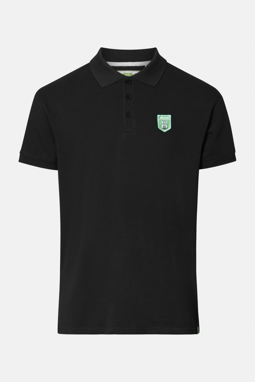 Derbe Tommy Poloshirt T-Shirt GOTS Schwarz