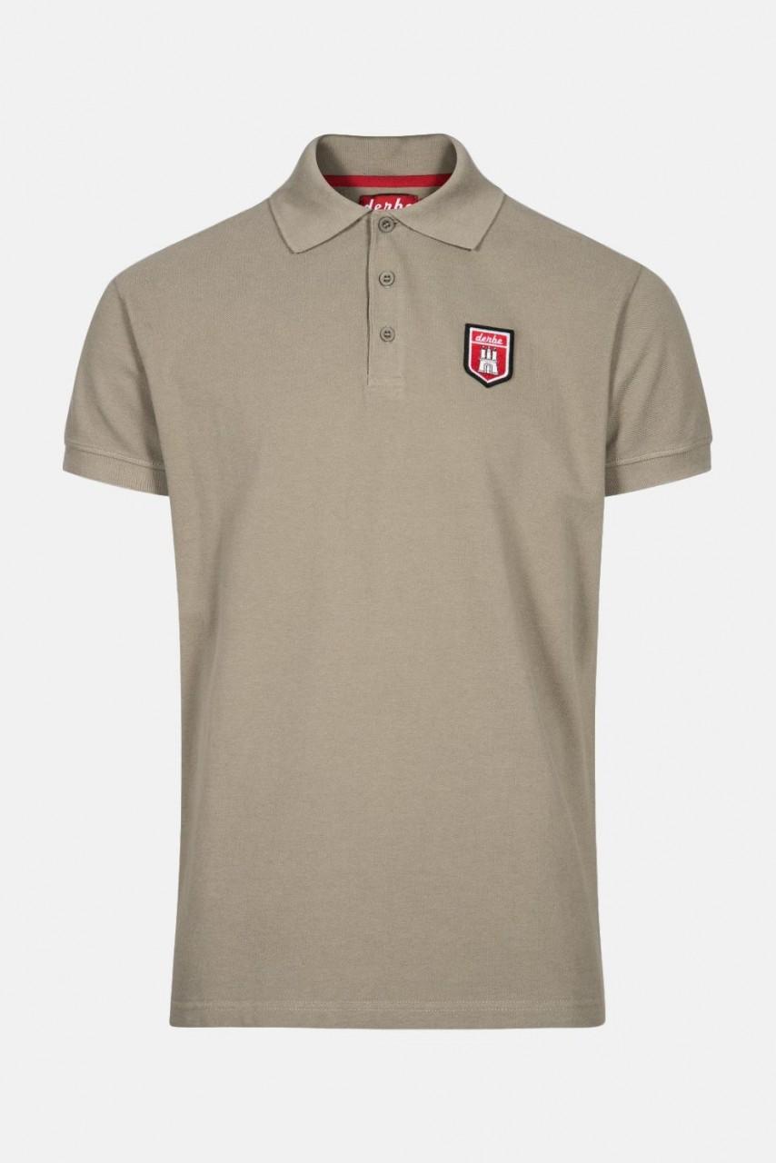 Derbe Herren Poloshirt T-Shirt Tommy Timber Beige