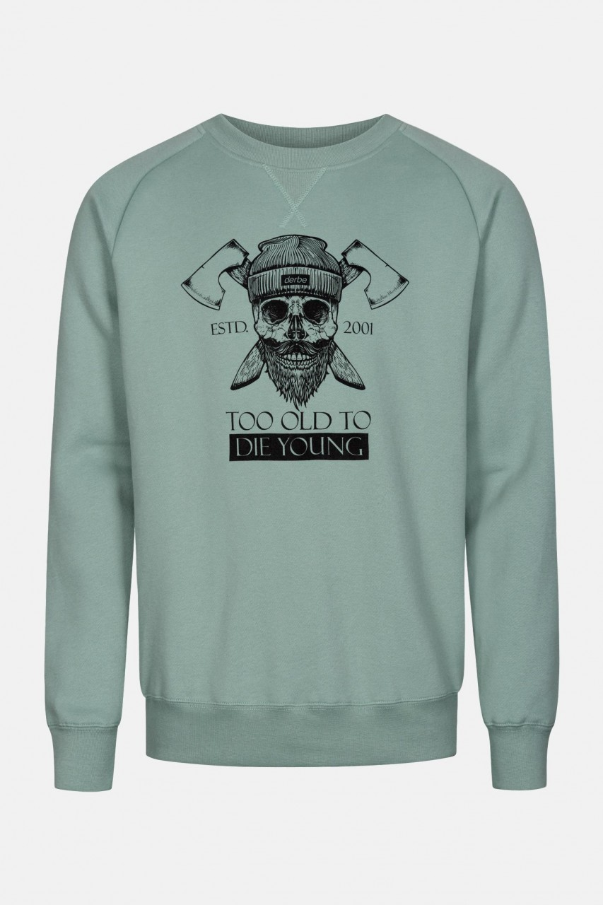 Derbe Too Old To Die Young Herren Pullover Grün