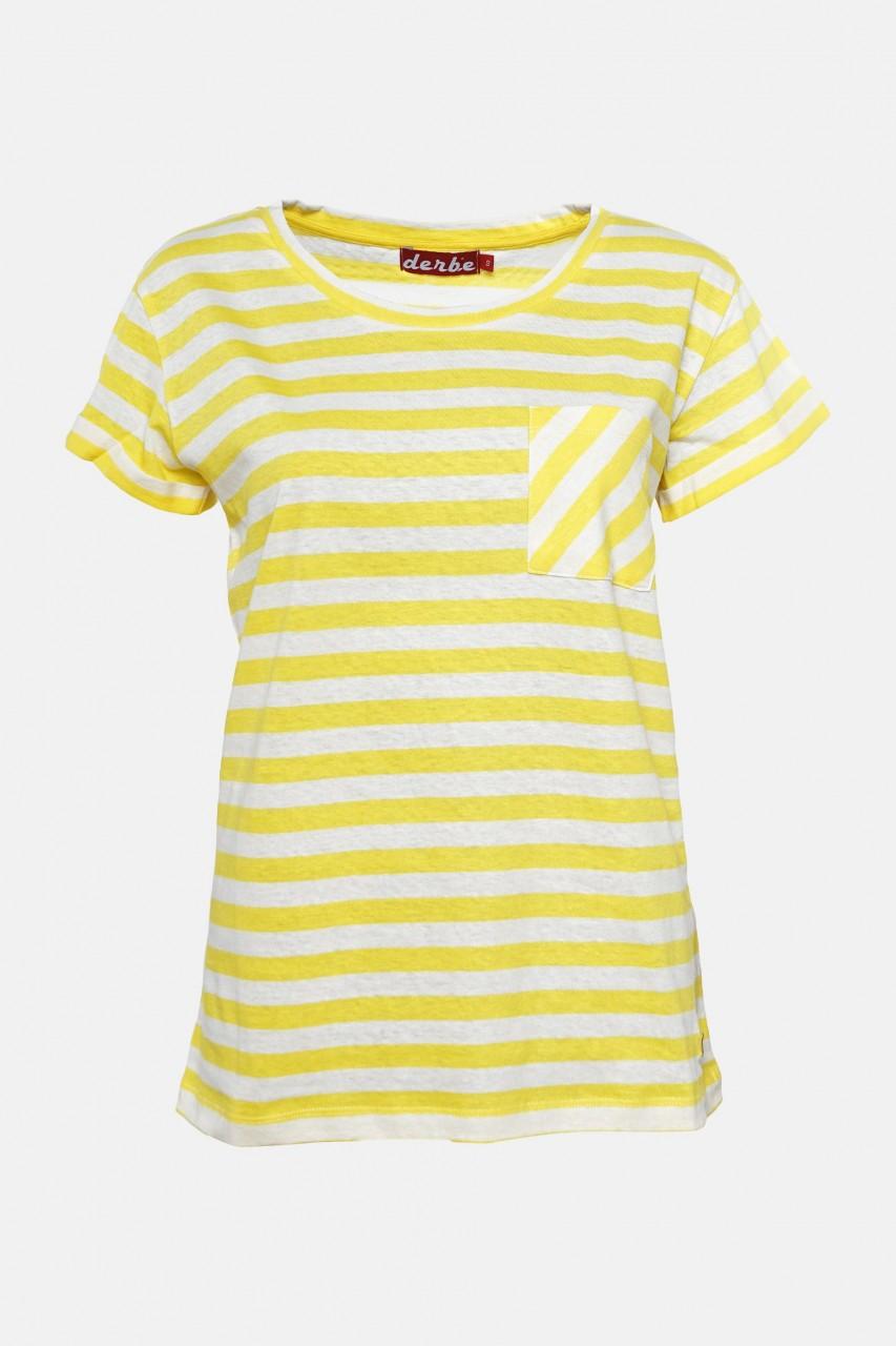 Derbe Vivian Streifenshirt Gelb Damen