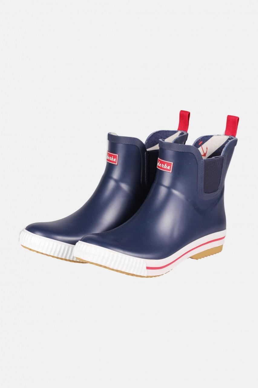 Derbe Wattpuuschen Blau Navy Gummistiefel Halbschuhe Chelsea Boots