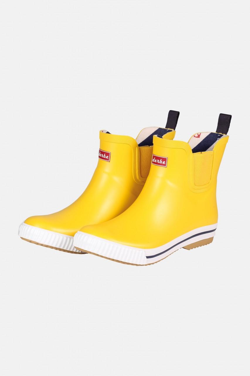 Derbe Wattpuuschen Gelb Gummistiefel Halbschuhe Chelsea Boots