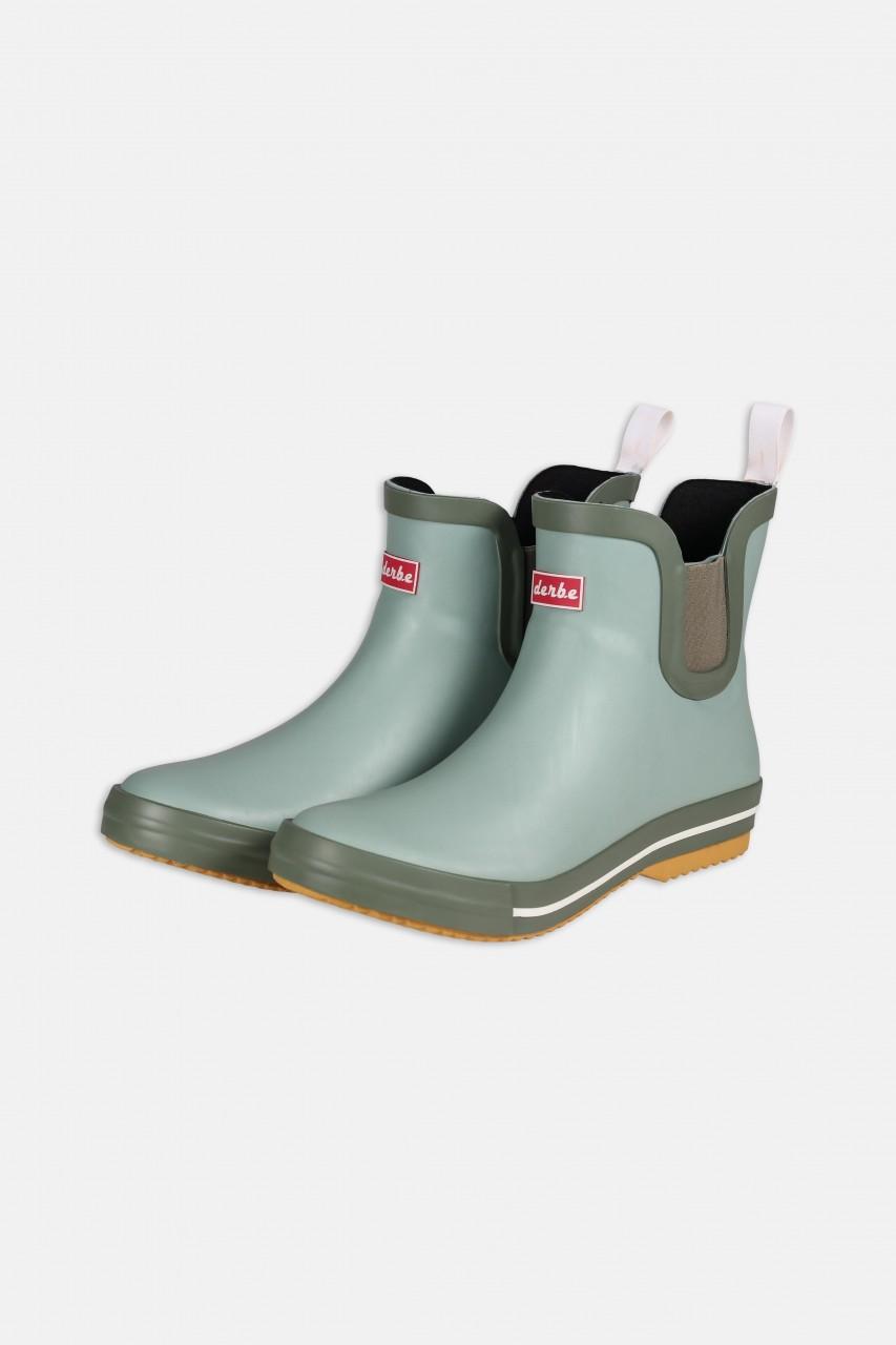 Derbe Wattpuuschen Greenbay Mint Grün Gummistiefel Halbschuhe Chelsea Boots