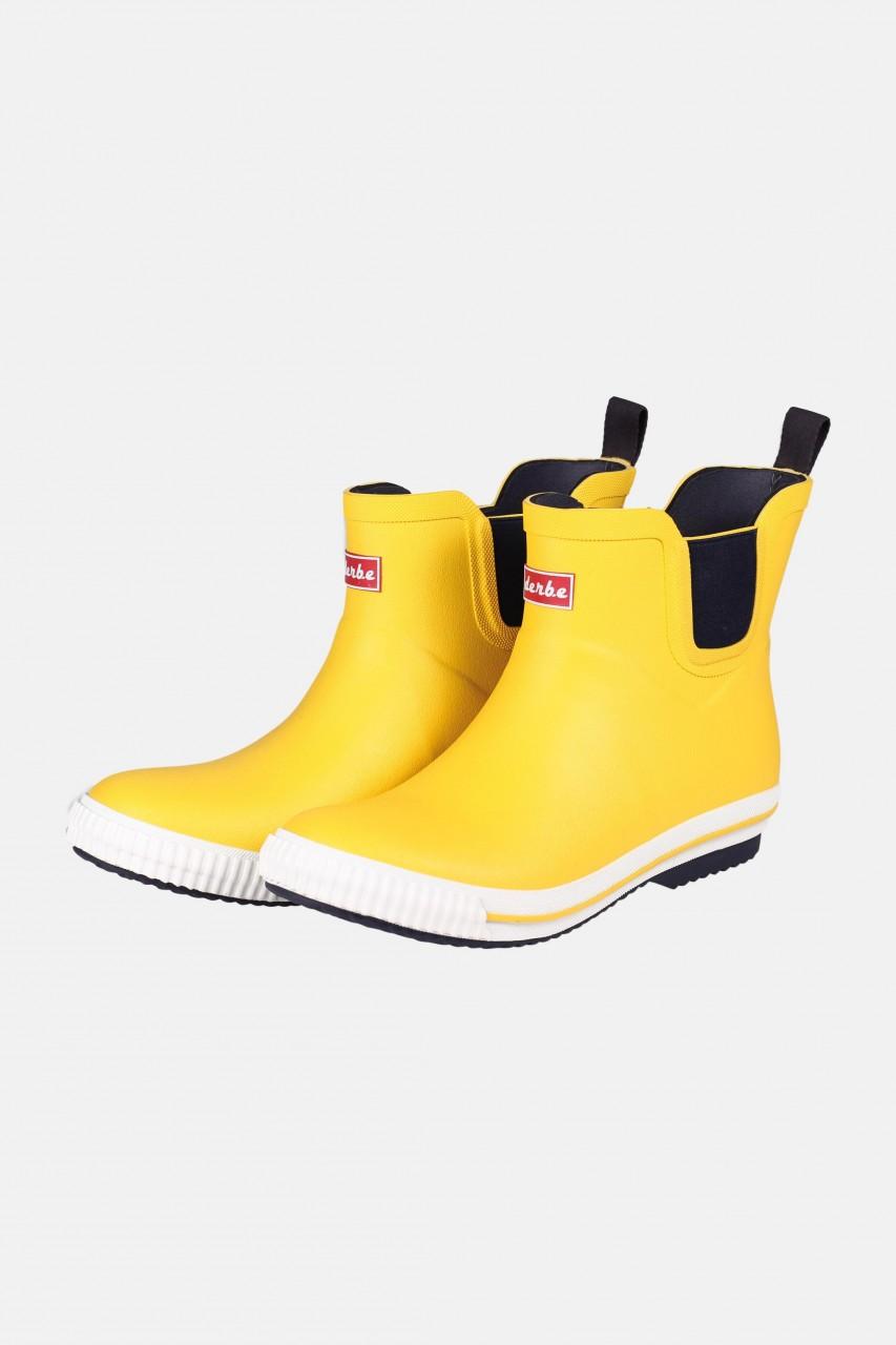 Derbe Wattpuuschen Neopren Gelb Gummistiefel Halbschuh Chelsea Boots